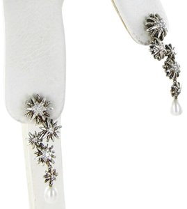 David Yurman David Yurman Starburst Cascade Earrings Diamond 0.21cts Pearl Sterling