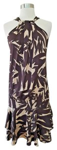 Diane von Furstenberg short dress Brown and beige Dvf Halter Dvf 2 on Tradesy