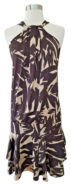 Diane von Furstenberg short dress Brown and beige Dvf Halter Dvf 2 on Tradesy Image 0