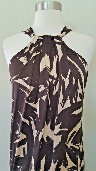 Diane von Furstenberg short dress Brown and beige Dvf Halter Dvf 2 on Tradesy Image 1