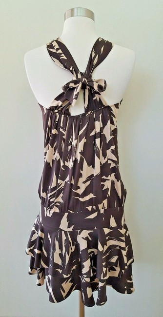 Diane von Furstenberg short dress Brown and beige Dvf Halter Dvf 2 on Tradesy Image 3