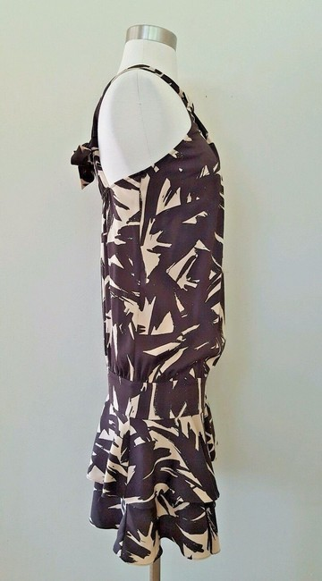 Diane von Furstenberg short dress Brown and beige Dvf Halter Dvf 2 on Tradesy Image 4