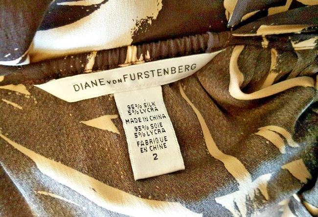 Diane von Furstenberg short dress Brown and beige Dvf Halter Dvf 2 on Tradesy Image 6