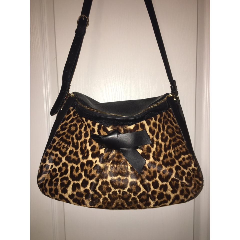 Cross top Body Louboutin Salina Bag Leather Leopard Zip Messenger Christian PZ0qx