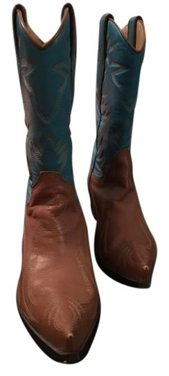 Preload https://img-static.tradesy.com/item/20067462/guess-tan-blue-bootsbooties-size-us-65-0-3-540-540.jpg