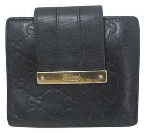 Gucci GUCCI BLACK LEATHER GUCCISSIMA COTINENTAL WALLET MADE ITALY