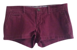 Abercrombie & Fitch A&f Oxblood Mini/Short Shorts Burgundy