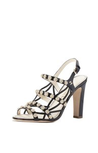 Chanel Studded Classic Patent Leather Black Sandals