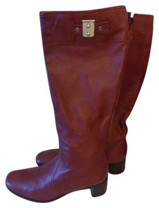 Herms BURGUNDY Boots