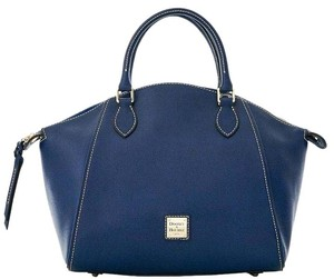 Dooney & Bourke Leather Satchel in Marine