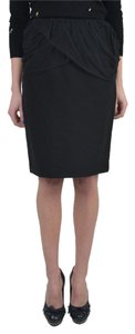 Just Cavalli Straight Pencil Mini Skirt Black