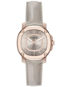 Burberry Women's Swiss The Britain Gray Leather Strap Watch 34mm BBY1718