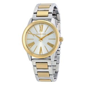 Michael Kors Two Tone Gold Silver Stainless Steel Designer Dress Watch