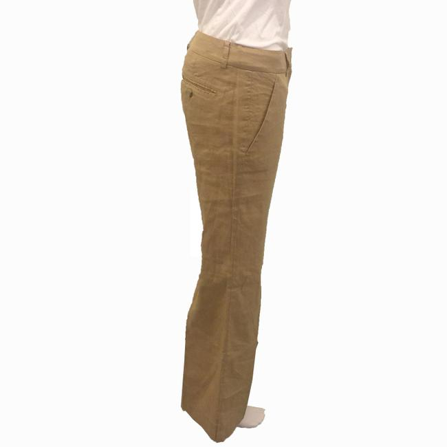 Theory Linen Khaki Flare Pants BROWN Image 1