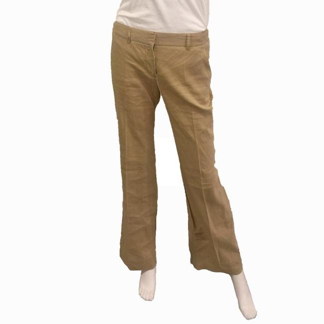 Theory Linen Khaki Flare Pants BROWN Image 2