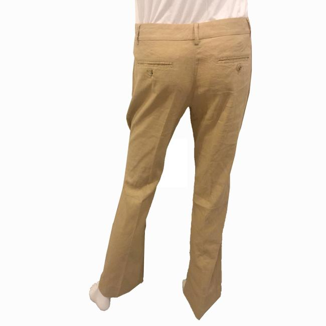 Theory Linen Khaki Flare Pants BROWN Image 3