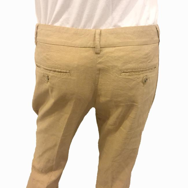 Theory Linen Khaki Flare Pants BROWN Image 4