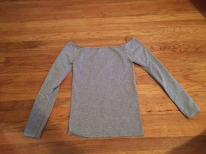 Free People Off-Shoulder Warm Up Top