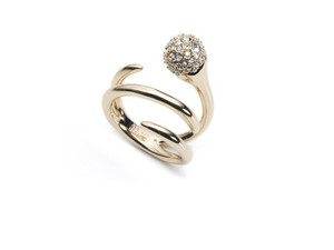 Alexis Bittar Alexis Bittar Crystal-Encrusted Sphere Coil Ring 7