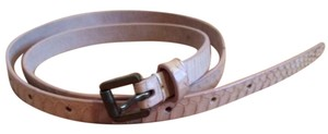 J.Crew Skinny Snake Textured Leather Belt