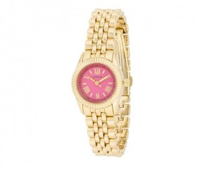 Geneva Geneva Gold Link Watch With Pink Dial