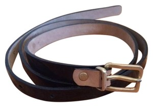 J.Crew JCrew Patent Leather Black Skinny Belt