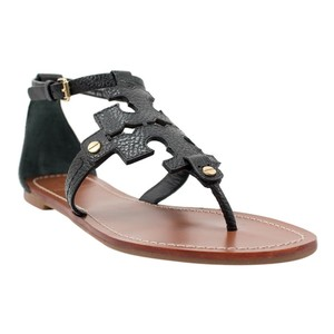Tory Burch Phoebe Flat Thong Black Sandals