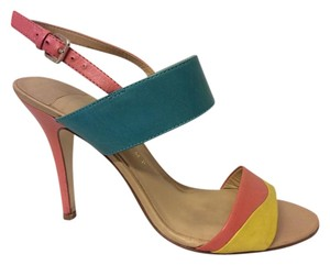 Ivanka Trump Mildread Sandal Yellow, Coral, Turquoise Sandals