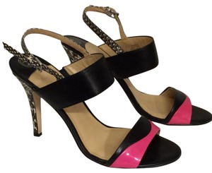 Ivanka Trump Trump Mildread Ivanka Black and Pink Fuschia Sandals