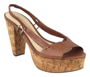 Via Spiga Brown Platforms