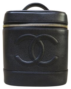 Chanel Chanel Black Caviar Vanity Case Cosmetic Bag