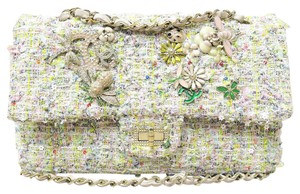 Chanel Limited Edition 255 Tweed Garden Party Reissue Shoulder Bag