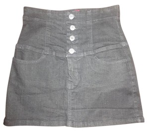 Other High Waisted Xxi Mini Mini Skirt Black Denim