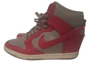 Nike Sneaker Wedge High Top Pink & Grey Wedges