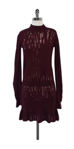Theory short dress Burgundy Wool Sweater on Tradesy