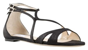 Jimmy Choo Chic Strappy Classic Timeless Black Sandals