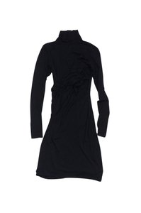 Theory short dress Black Draped Long Sleeve on Tradesy