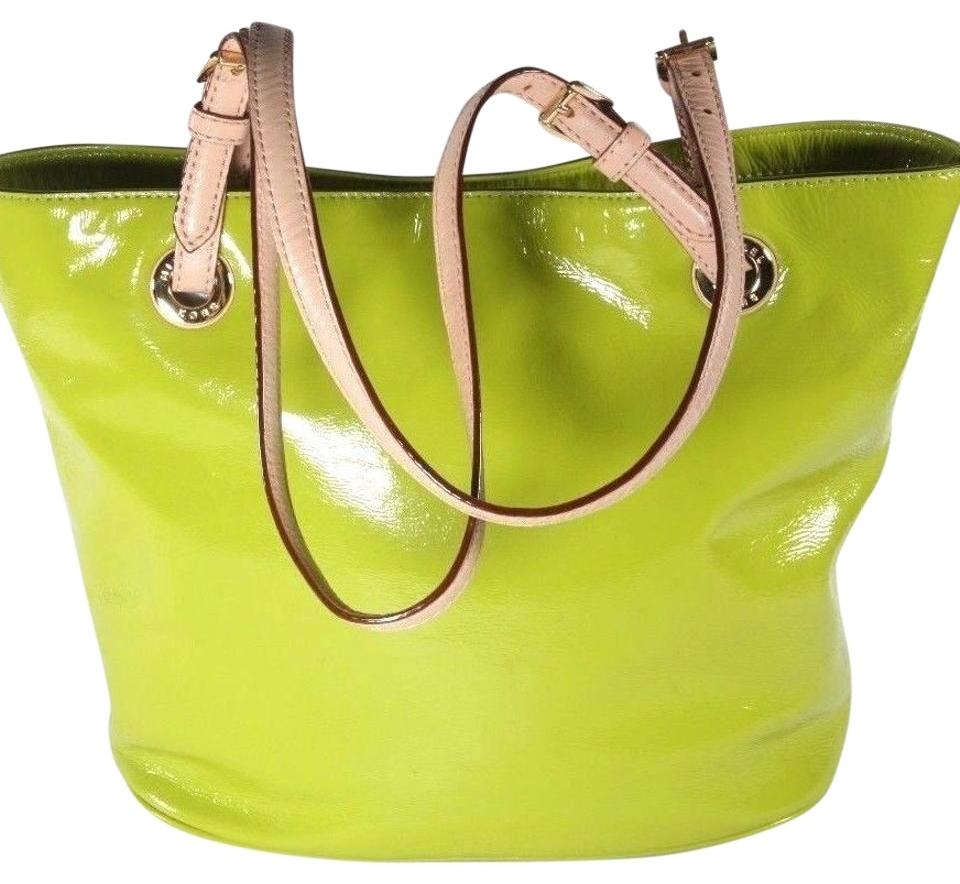 06630ca1a599 MICHAEL Michael Kors Jet Set Lime Green Patent Leather Tote - Tradesy