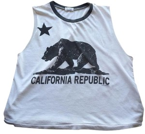Brandy Melville T Shirt White with California Graphic