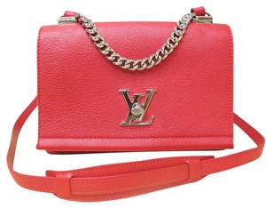 Louis Vuitton Tote Like New Lockme Lv Satchel in red