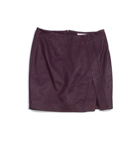 NICHOLAS Leather Mini Mini Skirt Plum