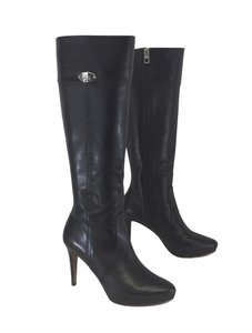 Coach Black Leather Boots
