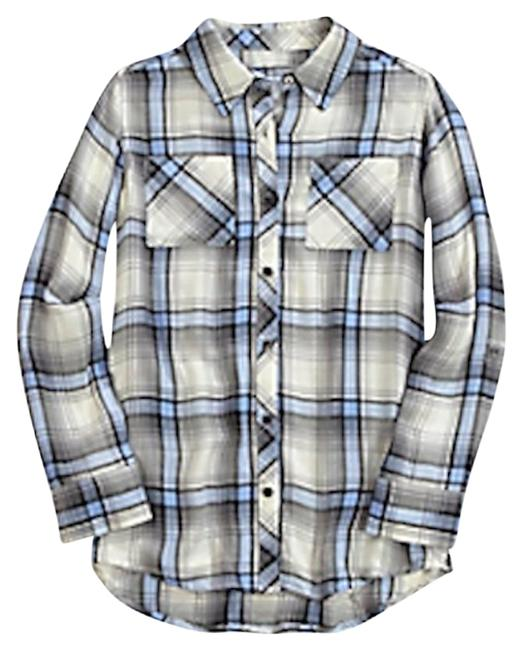 Item - Rayon Flannel Plaid Button-down Top Size 8 (M)