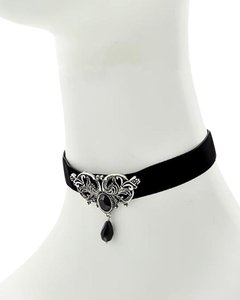 Other Black Fabric Filigree Choker