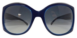 Chanel Chanel Over sized 5183 Blue/Grey Sunglasses CC Logo