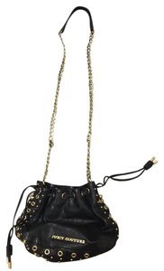 Juicy Couture Gold Hardware Leather Bucket Classic Cross Body Bag