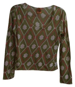 Tory Burch Top Green multi color
