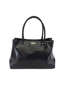 Kate Spade Black Textured Patent Leather Tote