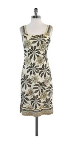 St. John short dress Cream Floral Embellished Sleeveless on Tradesy