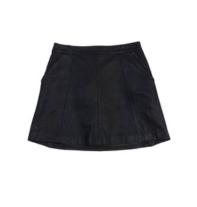 Marc by Marc Jacobs Black Vegan Leather Skirt